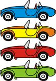 Cartoon retro cars. Set of cartoon retro cars - isolated vector illustrations on white bacground Stock Photos