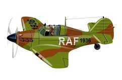 Cartoon Retro Fighter Plane Stock Images