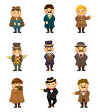 Cartoon retro gentleman icon Royalty Free Stock Image