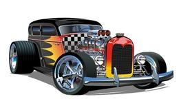 Free Cartoon Retro Hot Rod Isolated On White Background Stock Photography - 128344722
