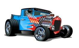 Cartoon retro hot rod isolated on white background stock illustration