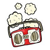 cartoon retro radio Stock Photo