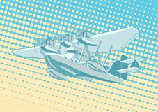 Cartoon Retro Sea Plane Stock Images