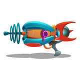 Cartoon retro space blaster, ray gun, laser weapon. Stock Photography