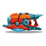 Cartoon retro space blaster, ray gun, laser weapon. Stock Images