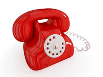 Cartoon retro telephone. Royalty Free Stock Photos