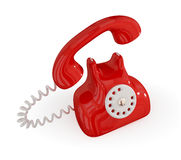 Cartoon retro telephone. Royalty Free Stock Photo