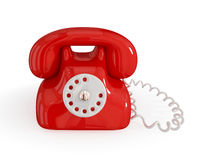 Cartoon retro telephone. Stock Photos