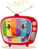 Cartoon retro tv Royalty Free Stock Photography