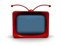 Cartoon retro tv Stock Photo