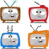 Cartoon Retro TV sets Stock Image
