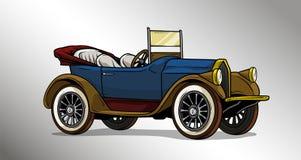 Free Cartoon Retro Vintage Luxury Convertible Car Stock Image - 130004461