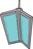 Cartoon of Revolving Door Part Royalty Free Stock Photos
