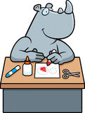 Cartoon Rhino Crafts Royalty Free Stock Image
