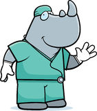Cartoon Rhino Doctor Royalty Free Stock Image