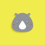 Cartoon Rhino face Stock Photo