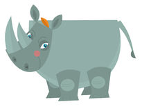 Cartoon rhino - illustration for the children Stock Photo