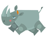 Cartoon rhino - illustration for the children Stock Image