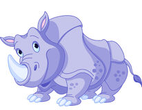 Cartoon rhino. Illustration of cartoon funny rhino stock illustration