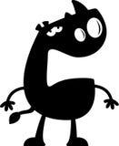 Cartoon Rhino Silhouette Sad Royalty Free Stock Image