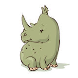 Cartoon rhino Stock Photography