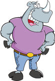 Cartoon rhino wearing jeans Stock Photo