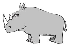 Cartoon rhinoceros Stock Images
