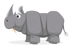 Cartoon Rhinoceros, vector Stock Image