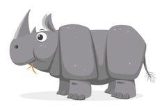 Cartoon Rhinoceros, vector Stock Image