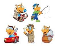 Cartoon rhinos stock illustration