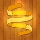 Cartoon Ribbon on wood background Stock Image