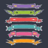 Cartoon Ribbons Set Stock Photos