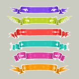 Cartoon Ribbons Set2 Stock Photo
