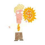 cartoon rich man Royalty Free Stock Photography
