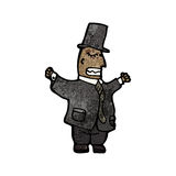 cartoon rich man in top hat Stock Images