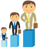 Cartoon rich, middle class and poor mens vector illustration