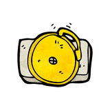 Cartoon ringing school bell Royalty Free Stock Images