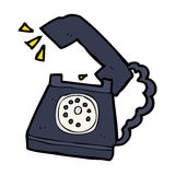 Cartoon ringing telephone Royalty Free Stock Image