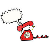 Cartoon ringing telephone Stock Images