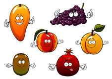 Cartoon ripe isolated fruit characters Royalty Free Stock Photos