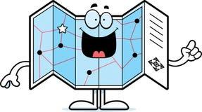 Cartoon Road Map Idea Royalty Free Stock Photography