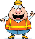 Cartoon Road Worker Idea Stock Image