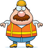 Cartoon Road Worker Mustache Stock Images