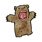 Cartoon roaring bear Royalty Free Stock Photo