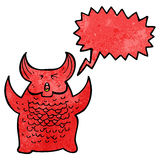 Cartoon roaring demon Royalty Free Stock Photo