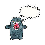 Cartoon roaring monster Stock Images
