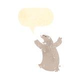 cartoon roaring polar bear Stock Photography
