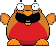 Cartoon Robin Bird Happy Royalty Free Stock Image