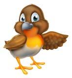 Cartoon Robin Bird Mascot Stock Photo