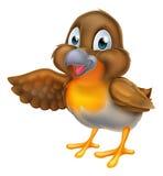 Cartoon Robin Bird Pointing Stock Photos